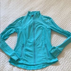 Lululemon define jacket in light turquoise